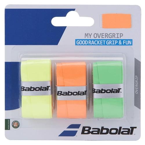 Färgglada grepplindor från Babolat. Perfekt för dig som vill liva upp ditt padelracket.